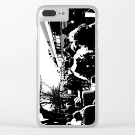 ALL ABOARD! Waiting to get on the Train! Clear iPhone Case
