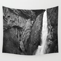 yosemite Wall Tapestries featuring Yosemite Falls by Danielle Fedorshik