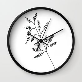 Branch White Wall Clock