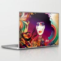 afro Laptop & iPad Skins featuring Afro Girl by Irmak Akcadogan