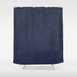 Zodiac Constellations Pattern Shower Curtain