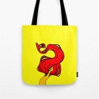 redhead Tote Bags featuring Redhead by Moonworkshop