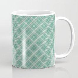 Christmas Green Holly and Ivy Tartan Check Plaid Coffee Mug