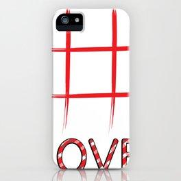 TicTacToe Love iPhone Case