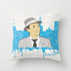 These Litte Town Blues Throw Pillow