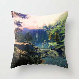 A river rest Throw Pillow