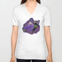 tinker bell V-neck T-shirts featuring Sihouette Tinker Bell by Katie Simpson a.k.a. Redhead-K
