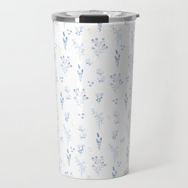 Small blue flowers Travel Mug