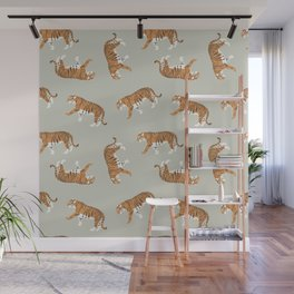 Tiger Trendy Flat Graphic Design Wall Mural