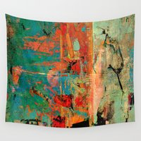 contemporary Wall Tapestries featuring Trojan Horse by Fernando Vieira
