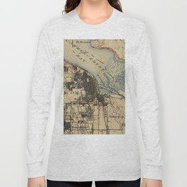 Vintage Map of Tacoma Washington (1895) Long Sleeve T-shirt