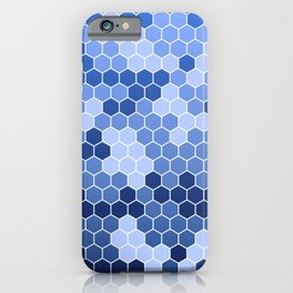 Honeycomb Blue Pattern | Geometric Shapes | Home Decor | Sapphire | For Him | For Her iPhone Case
