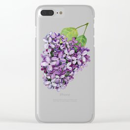 Watercolour Lilac Bloom Clear iPhone Case