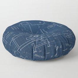 Toy Airplane Blueprint Floor Pillow