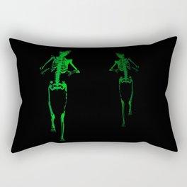 Skeleton Stalker Rectangular Pillow