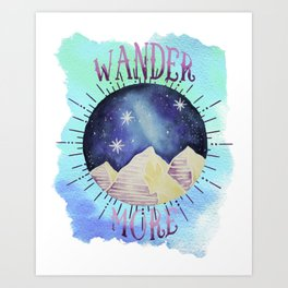 Wander More - Boho Wanderlust Outdoor Watercolor Art Print