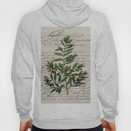 Chic paris scripts kitchen artwork french botanical leaf olive Hoody