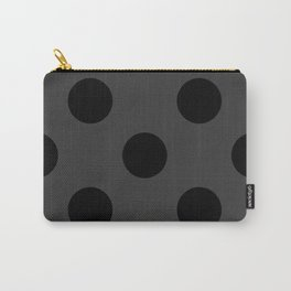 Giant Black and Dark Grey Polka Dot Pattern | Carry-All Pouch