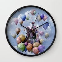 castle Wall Clocks featuring Sweet Castle by teddynash
