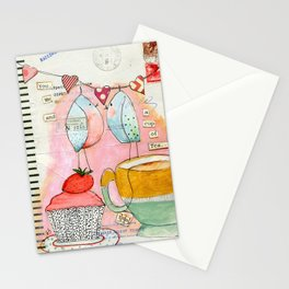 you, me and a cup of tea Stationery Cards