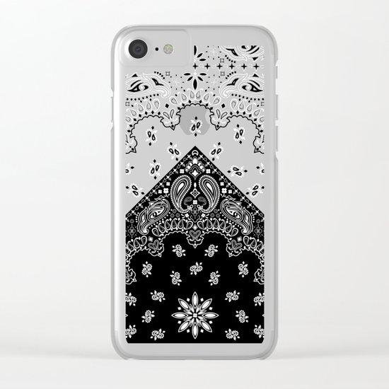 black and white bandana Clear iPhone Case
