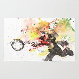 Mario Throwing Fireball Rug