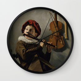 """Judith Leyster """"Boy playing the Flute"""" Wall Clock"""