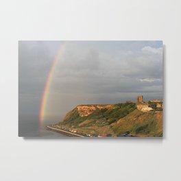Castle Rainbow Metal Print