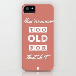 80's Movie Motivation: Murtaugh iPhone Case