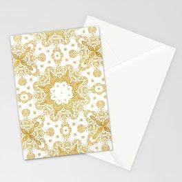 Golden pattern Stationery Cards