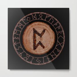 Perthro Elder Futhark Rune of fate and the unmanifest, probability, luck, nothingness, the unborn Metal Print