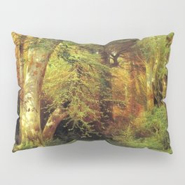 Forest Scene 1870 By Thomas Moran   Dense Woods Watercolor Reproduction Pillow Sham