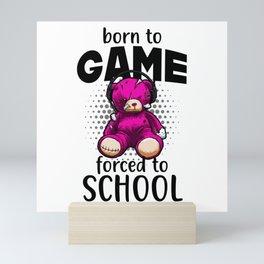 Gamer Bear Gaming Video Games Fun Mini Art Print