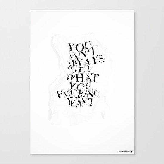 YCAGWYFW Canvas Print