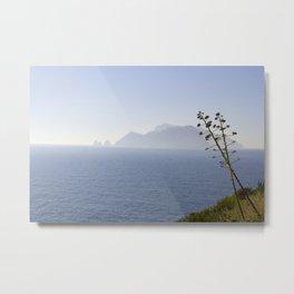 Capri Island From Punta Campanella, Italy Metal Print
