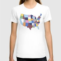 usa T-shirts featuring USA by Project M
