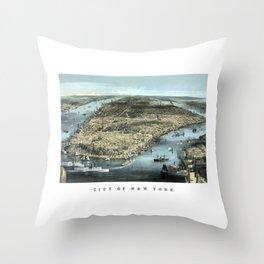 New York City -- Circa 1850 Throw Pillow