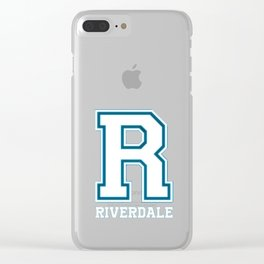 R - Riverdale T-Shirt Clear iPhone Case
