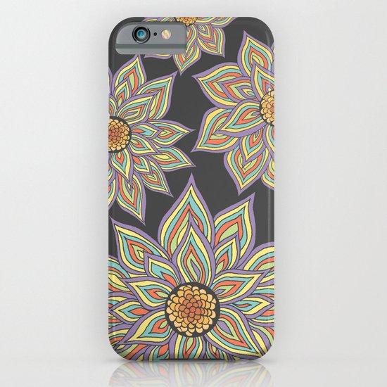 Floral Rhythm In The Dark iPhone & iPod Case
