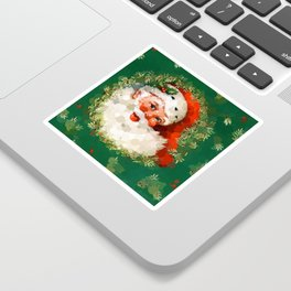 Bubble Dot Santa Christmas Sticker