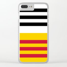 Flag of Loon op Zand Clear iPhone Case