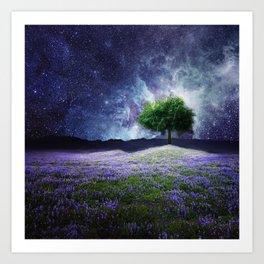 """""""Soul Tear"""" - Nature Meets Space Art Print"""