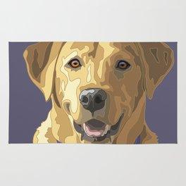 Happy Yellow Labrador Retriever Face Rug