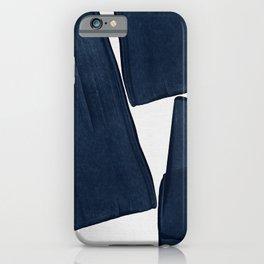 Minimalist Painting Blue III, Mid Century Modern iPhone Case
