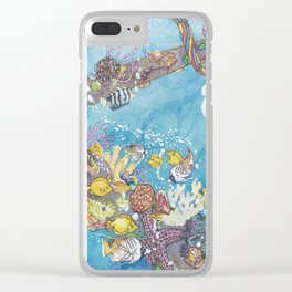 Welding in the Fantastic Sea Clear iPhone Case