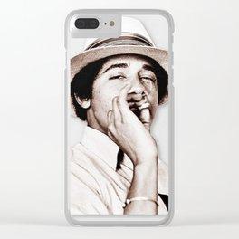 Barack Obama Smoking weed Clear iPhone Case