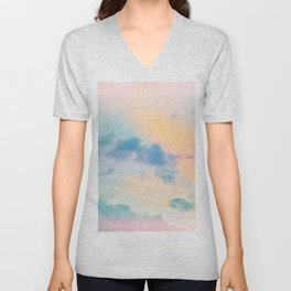 Unicorn Pastel Clouds #6 #decor #art #society6 Unisex V-Neck