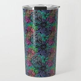 Project 196   Multicolor Zentangle Travel Mug