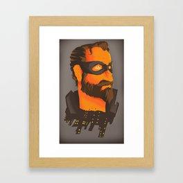 THE CITY HERO Framed Art Print