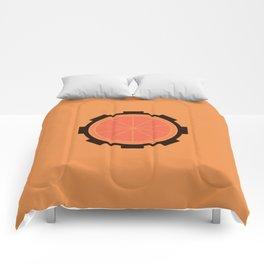 Orange Clockwork Gear Comforters